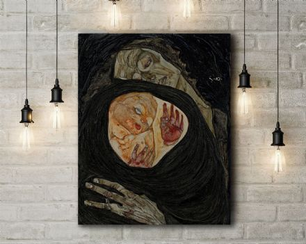 Egon Schiele: Dead Mother I. Fine Art Canvas.